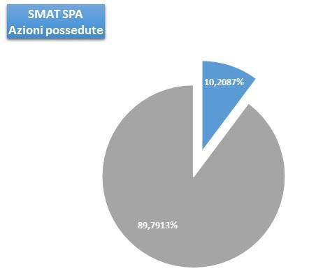 Grafico partecipazione in Smat